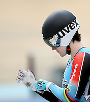 Australia's Anna Meares prior to her Women Kierin race at the 2014 Oceania Track Championships, Sit Zero Fees Velodrome, Invercargill, New Zealand, Friday, November 20, 2013. Photo: Dianne Manson / NINZ