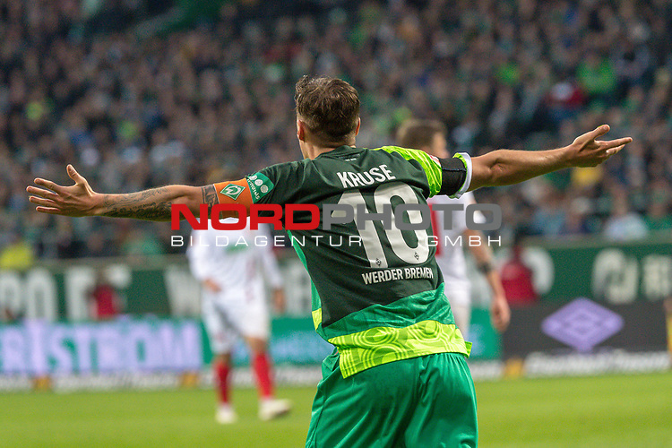 10.02.2019, Weser Stadion, Bremen, GER, 1.FBL, Werder Bremen vs FC Augsburg, <br /> <br /> DFL REGULATIONS PROHIBIT ANY USE OF PHOTOGRAPHS AS IMAGE SEQUENCES AND/OR QUASI-VIDEO.<br /> <br />  im Bild<br /> Max Kruse (Werder Bremen #10)<br /> sauer <br /> <br /> <br /> Foto &copy; nordphoto / Kokenge