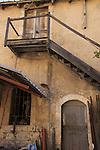 Israel, Shephelah, Old farm buildings at Latrun Monastery