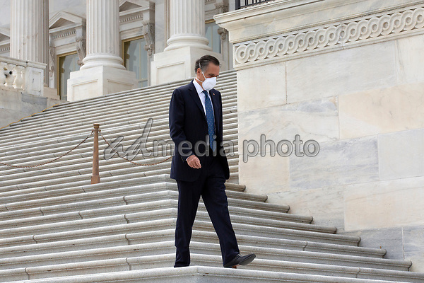 United States Senator Mitt Romney (Republican of Utah) leaves the United States Capitol in Washington D.C., U.S. on Thursday, May 21, 2020.  Credit: Stefani Reynolds / CNP/AdMedia