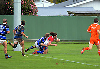 Action from the Mitre 10 Heartland Championship rugby union preseason match between Horowhenua Kapiti and Wanganui at Playford Park in Levin, New Zealand on Saturday, 19 August 2017. Photo: Dave Lintott / lintottphoto.co.nz