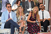 Will Arnett, Jennifer Aniston, Justin Theroux at the Hollywood Walk of Fame Star Ceremony honoring actor Jason Bateman. Los Angeles, USA 26 July 2017<br /> Picture: Paul Smith/Featureflash/SilverHub 0208 004 5359 sales@silverhubmedia.com