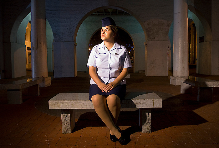 "FAYETTEVILLE, N.C, Aug. 6 - Airman First Class Cassandra Hernandez, 20 of Houston, Texas, says she was raped by three enlisted airmen after a party on May 13, 2006 at Pope Air Force Base. She is now facing charges of ""indecent acts with another"" and ""underage drinking."" .""I did everything I was told to do in that situation, and the system failed me,"" she says. .Hernandez claims that she originally decided not to testify against the men because she was emotionally traumatized and wanted to move on with her life but will not admit to indecent acts. Her court martial is scheduled for September 24th at Pope Air Force Base. (James J. Lee / Military Times)"