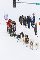 Rick Casillo on Cordova St. hill during the Anchorage start day of  Iditarod 2018<br /> <br /> Photo by Trent Grasse /SchultzPhoto.com  (C) 2018  ALL RIGHTS RESERVED