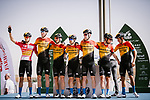 Bahrain-McLaren before the start of Stage 5 of the Saudi Tour 2020 running 144km from Princess Nourah University to Al Masmak, Saudi Arabia. 8th February 2020. <br /> Picture: ASO/Pauline Ballet   Cyclefile<br /> All photos usage must carry mandatory copyright credit (© Cyclefile   ASO/Pauline Ballet)