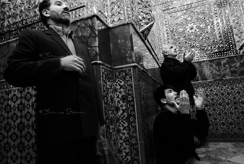 Teheran, Iran, March 20, 2007.Worshippers at the Ehmamzadeh Saleh shrine in northern Teheran.