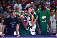 Real Madrid's player Carlos Suarez and Jamar Smith and Unicaja Malaga's player XXX during match of Liga Endesa at Barclaycard Center in Madrid. September 30, Spain. 2016. (ALTERPHOTOS/BorjaB.Hojas) /NORTEPHOTO.COM