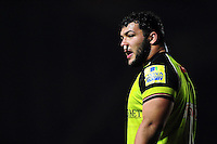 Ellis Genge of Leicester Tigers looks on during a break in play. Aviva Premiership match, between Harlequins and Leicester Tigers on February 24, 2017 at the Twickenham Stoop in London, England. Photo by: Patrick Khachfe / JMP