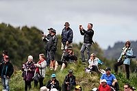 Spectators watch Lydia Ko. McKayson NZ Women's Golf Open, Round Two, Windross Farm Golf Course, Manukau, Auckland, New Zealand, Friday 29 September 2017.  Photo: Simon Watts/www.bwmedia.co.nz