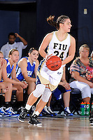 28 November 2010:  FIU guard Carmen Miloglav (24) handles the ball in the first half as the FIU Golden Panthers defeated the Indiana State Sycamores, 68-47, to win the 16th annual FIU Thanksgiving Classic at the U.S. Century Bank Arena in Miami, Florida.