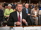 Ryan D. McCarthy prepares to testify on his nomination to be Secretary of the Army before the United States Senate Committee on Armed Services on Capitol Hill in Washington, DC on Thursday, September 12, 2019.<br /> Credit: Ron Sachs / CNP