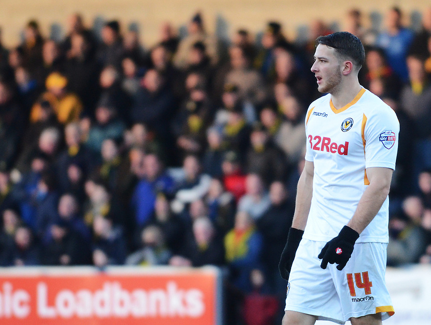 Newport County's Conor Washington in action during todays match  <br /> <br /> Photo by Kevin Barnes/CameraSport<br /> <br /> Football - The Football League Sky Bet League Two - Burton Albion v Newport County - Sunday 29th December 2013 - Pirelli Stadium - Burton upon Trent<br /> <br /> &copy; CameraSport - 43 Linden Ave. Countesthorpe. Leicester. England. LE8 5PG - Tel: +44 (0) 116 277 4147 - admin@camerasport.com - www.camerasport.com