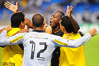 RIO DE JANEIRO, RJ,  24 DE JUNHO 2012 - CAMPEONATO BRASILEIRO - 6a RODADA - BOTAFOGO X PONTE PRETA - Andrezinho, jogador do Botafogo, comemora o gol com seus companheiros, durante partida contra a Ponte Preta, pelo Campeonato Brasileiro, 6a rodada, no Stadium Rio (Engenhao), na cidade do Rio de Janeiro, neste domingo, 24. FOTO BRUNO TURANO  BRAZIL PHOTO PRESS