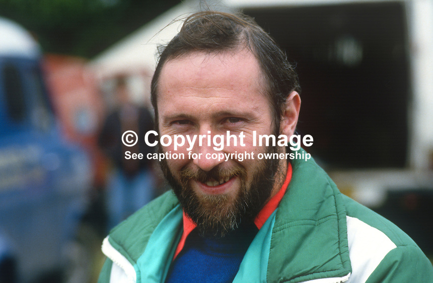 David Cowan, N Ireland, racing motorcyclist, 19850805DC1..Copyright Image from Victor Patterson, 54 Dorchester Park, Belfast, UK, BT9 6RJ..Tel: +44 28 9066 1296.Mob: +44 7802 353836.Voicemail +44 20 8816 7153.Skype: victorpattersonbelfast.Email: victorpatterson@me.com.Email: victorpatterson@ireland.com (back-up)..IMPORTANT: If you wish to use this image or any other of my images please go to www.victorpatterson.com and click on the Terms & Conditions. Then contact me by email or phone with the reference number(s) of the image(s) concerned.