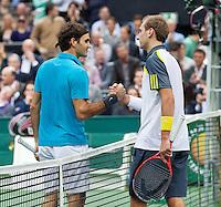 14-02-13, Tennis, Rotterdam, ABNAMROWTT, Roger Federer - Thiemo de Bakker
