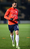 3rd December 2019; Pirelli Stadium, Burton Upon Trent, Staffordshire, England; English League One Football, Burton Albion versus Southend United; Stephen McLaughlin of Southend United during the pre match warm up - Strictly Editorial Use Only. No use with unauthorized audio, video, data, fixture lists, club/league logos or 'live' services. Online in-match use limited to 120 images, no video emulation. No use in betting, games or single club/league/player publications