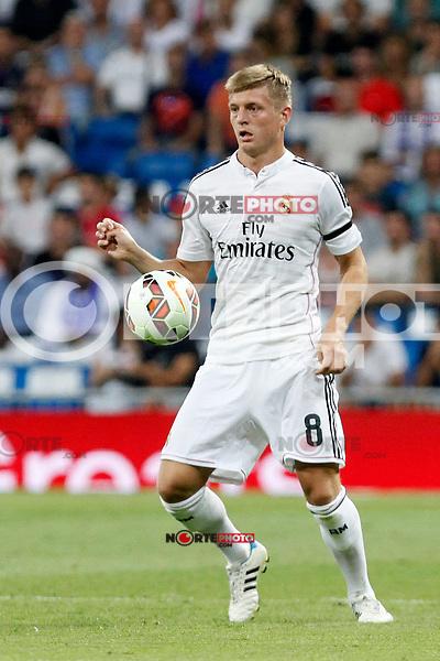 Toni Kroos of Real Madrid during La Liga match between Real Madrid and Atletico de Madrid at Santiago Bernabeu stadium in Madrid, Spain. September 13, 2014. (ALTERPHOTOS/Caro Marin)