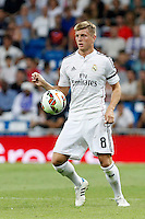 Toni Kroos of Real Madrid during La Liga match between Real Madrid and Atletico de Madrid at Santiago Bernabeu stadium in Madrid, Spain. September 13, 2014. (ALTERPHOTOS/Caro Marin)