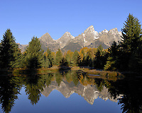 Grand Tetons National Park with mountain reflection