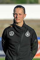 20200307  Lagos , Portugal : German goalkeeper Laura Benkarth (12) pictured during the female football game between the national teams of Germany and Norway on the second matchday of the Algarve Cup 2020 , a prestigious friendly womensoccer tournament in Portugal , on saturday 7 th March 2020 in Lagos , Portugal . PHOTO SPORTPIX.BE | STIJN AUDOOREN