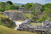 "Caves Branch, Belize, May 2012. Xunantunich Mayan ruin, also known as the ""Maiden of the Rock"". It stands 130 feet high, the second tallest Mayan ruin in Belize, and gives a panoramic view of the Cayo District, Guatemala and the Mopan River. The site has been largely excavated and has a great on site museum.Adventure is what Ian Anderson's Caves Branch is all about. Over the years, the Caves Branch jungle lodge has evolved from extremely rustic Jungle River Camp with outhouses and bathing in the river to 5 Star Luxury Tree Houses with roof top decks and hot tubs to relax under the stars above. Photo by Frits Meyst/Adventure4ever.com"