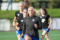 Boston, MA - Saturday April 29, 2017: Adriana Leon during warmups before a regular season National Women's Soccer League (NWSL) match between the Boston Breakers and Seattle Reign FC at Jordan Field.
