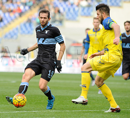 24.01.2016. Stadium Olimpico, Rome, Italy.  Serie A football league. SS Lazio versus Chievo Verona. Senad Lulic (Lazio) in action