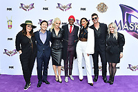 """LOS ANGELES - JUNE 4: From left: Ricki Lake, Ken Jeong, Jenny McCarthy, Nick Cannon, Nicole Scherzinger, Robin Thicke and Marina Toybina attend an Emmy FYC event for Fox's """"The Masked Singer"""" at Westfield Century City on June 4, 2019 in Los Angeles, California. (Photo by Vince Bucci/Fox/PictureGroup)"""