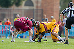 Los Angeles, CA 02/15/14 - Zack Handy (Arizona State #44) and unidentified Stanford player(s)