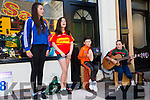 Taking part in the Busking Competition at the Cahersiveen Festival on Saturday were l-r; Lill Kelly, Julia Cooper, Kieran O'Donnell & Shannon O'Donnell.