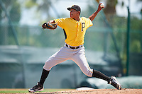Pittsburgh Pirates pitcher Roger Santana (73) during an Instructional League Intrasquad Black & Gold game on September 28, 2016 at Pirate City in Bradenton, Florida.  (Mike Janes/Four Seam Images)
