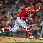 29 July 2017: Washington Nationals pitcher Oliver Perez on the mound against the Colorado Rockies at Nationals Park in Washington, DC. The Rockies defeated the Nationals 4-2 in the first game of their 3-game weekend series. Mandatory Credit: Ed Wolfstein Photo *** RAW (NEF) Image File Available ***