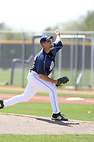 Nick Greenwood, San Diego Padres minor league spring training..Photo by:  Bill Mitchell/Four Seam Images.
