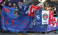 Stade Francais Paris Fans before todays match<br /> <br /> Photographer Rachel Holborn/CameraSport<br /> <br /> European Rugby Challenge Cup Final - Gloucester Rugby v Stade Francais Paris - Friday 12th May 2017 - BT Murrayfield, Edinburgh<br /> <br /> World Copyright &copy; 2017 CameraSport. All rights reserved. 43 Linden Ave. Countesthorpe. Leicester. England. LE8 5PG - Tel: +44 (0) 116 277 4147 - admin@camerasport.com - www.camerasport.com