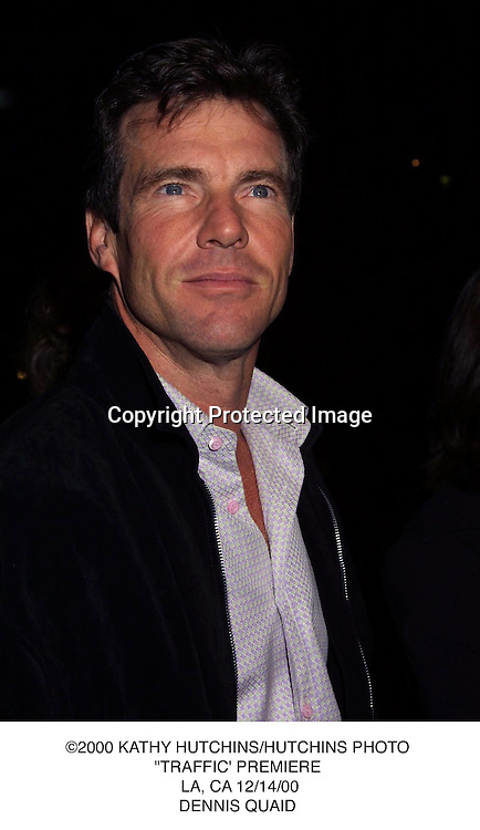 "©2000 KATHY HUTCHINS/HUTCHINS PHOTO.""TRAFFIC' PREMIERE. LA, CA 12/14/00.DENNIS QUAID"