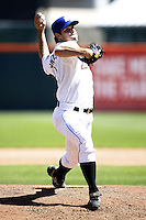 May 21, 2009:  Relief Pitcher Jon Switzer of the Buffalo Bisons, International League Triple-A affiliate of the New York Mets, delivers a pitch during a game at Coca-Cola Field in Buffalo, NY.  Photo by:  Mike Janes/Four Seam Images