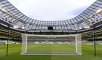 5th March 2014; General view of the stadium ahead of the game. International Friendly, Republic of Ireland v Serbia, Aviva Stadium, Dublin. Picture credit: Tommy Grealy / actionshots.ie