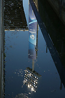 reflectors reflected in the water UEFA Under 21 Championship Italy 2019<br /> Reggio Emilia 16-06-2019 Stadio Città del Tricolore <br /> Football UEFA Under 21 Championship Italy 2019<br /> Group Stage - Final Tournament Group A<br /> Poland - Belgium<br /> Photo Cesare Purini / Insidefoto