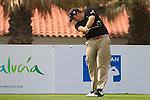 Anthony Wall (ENG) in action on the 1st tee during Day 2 Friday of the Open de Andalucia de Golf at Parador Golf Club Malaga 25th March 2011. (Photo Eoin Clarke/Golffile 2011)