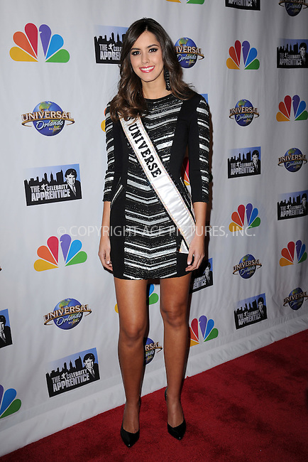 WWW.ACEPIXS.COM<br /> February 16, 2015 New York City<br /> <br /> Paulina Vega arriving to the Celebrity Apprentice Finale viewing party and post show red carpet on February 16, 2015 in New York City.<br /> <br /> Please byline: Kristin Callahan/AcePictures<br /> <br /> ACEPIXS.COM<br /> <br /> Tel: (646) 769 0430<br /> e-mail: info@acepixs.com<br /> web: http://www.acepixs.com