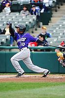 Akron Aeros infielder Jose Ramirez (10) during game against the Trenton Thunder at ARM & HAMMER Park on April 17, 2013 in Trenton, New Jersey.  Akron defeated Trenton 10-6.  Tomasso DeRosa/Four Seam Images