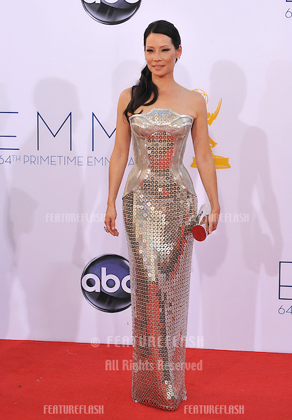 Lucy Liu at the 64th Primetime Emmy Awards at the Nokia Theatre LA Live..September 23, 2012  Los Angeles, CA.Picture: Paul Smith / Featureflash