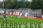 Goal<br /> -------<br /> A strike from Kerry's Sean Kennedy (out of picture) billows up the net past Cobh goalkeeper Darragh Coakley, with Kerrys No 9 Leo Gaxha ready for a rebound, when the sides met at Mounthawk park last Saturday afternoon in the U15  SSE Airtricity league.