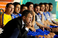 PALMIRA -COLOMBIA-24-02-2016. Rodolfo Arruabarrena técnico del Boca Juniors de Argentina durante partido con Deportivo Cali de Colombia por la fecha 1, G3, de la Copa Bridgestone Libertadores 2016 jugado en el estadio Palmaseca de la ciudad de Palmira. / Rodolfo Arruabarrena coach of Boca Juniors of Argentina during the match for the second leg against Deportivo Cali de Colombia during a match for the date 1, G3, of the Copa Bridgestone Libertadores 2016 played at Palmaseca stadium in Palmira city.  Photo: VizzorImage/ NR /Cont