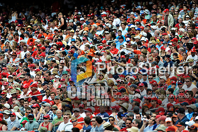 20 May 2012: A section of orange and red dot a capacity crowd of 41,918 watch the Washington Nationals host the Baltimore Orioles at Nationals Park in Washington, DC. The Nationals defeated the Orioles 9-3 to salvage the third game of their 3-game series. Mandatory Credit: Ed Wolfstein Photo