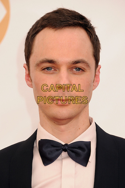 Jim Parsons<br /> The 65th Annual Primetime Emmy Awards - Arrivals held at The Nokia Theatre L.A. Live in Los Angeles, California, USA.<br /> September 22nd, 2013 <br /> headshot portrait white shirt bow tie black tuxedo<br /> CAP/ADM/BP<br /> &copy;Byron Purvis/AdMedia/Capital Pictures