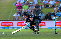 Tim Seifert bats during the One Day International cricket match between NZ Black Caps and Sri Lanka at Mount Maunganui, New Zealand on Saturday, 5 January 2019. Photo: Dave Lintott / lintottphoto.co.nz