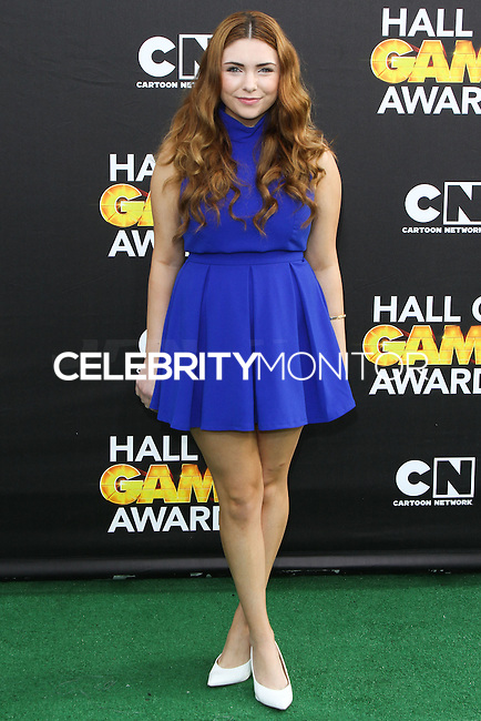 SANTA MONICA, CA, USA - FEBRUARY 15: Julianna Rose at the 4th Annual Cartoon Network Hall Of Game Awards held at Barker Hangar on February 15, 2014 in Santa Monica, California, United States. (Photo by David Acosta/Celebrity Monitor)