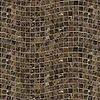 River Run, a hand-cut stone mosaic, shown in 3 cm polished Emperador Dark.