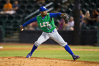 Lexington Legends relief pitcher Torey Deshazier (29) in action against the Hickory Crawdads at L.P. Frans Stadium on April 29, 2016 in Hickory, North Carolina.  The Crawdads defeated the Legends 6-2.  (Brian Westerholt/Four Seam Images)